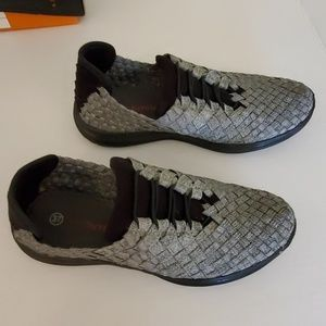 Ladies Pewter slip on shoes